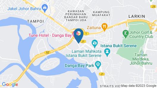 Zoom Inn Boutique Hotel - Danga Bay, Johor Bahru Map