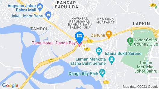 Tune Hotel - Danga Bay, Johor Map