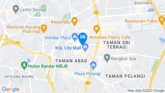 Holiday Villa Johor Bahru City Centre Map