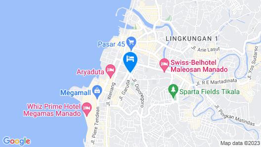 Top Hotel Manado Map