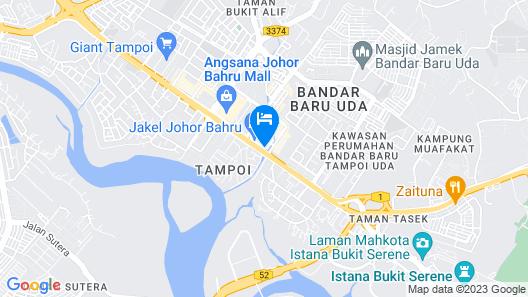 Hotel de Angsana Johor Bahru Map