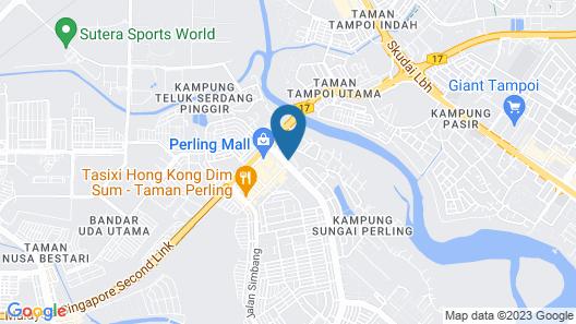 Amerin Hotel Johor Bahru Map