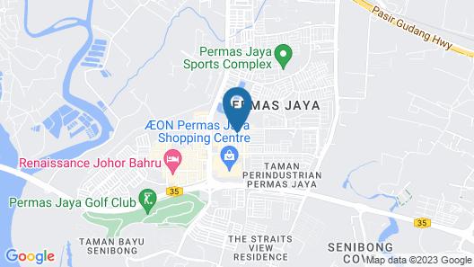 Sun Inns Permas Jaya Map