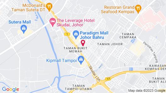 JB Staycation next to Paradigm Mall JB Map