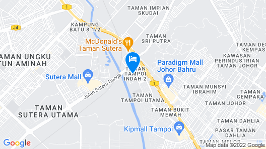 The Leverage Business Hotel Skudai Map
