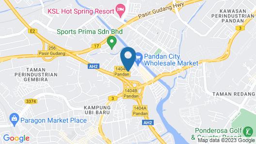 Glex Hotel Pandan City Map