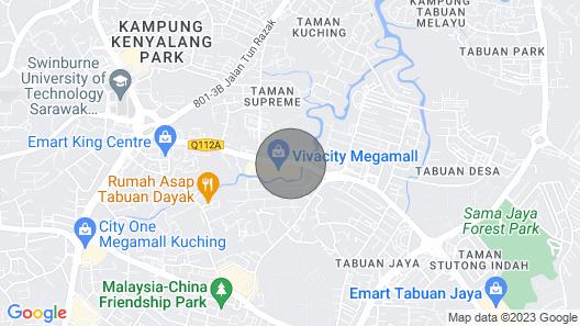 25degrees Vivacity Megamall Kuching Map