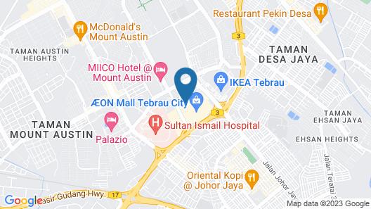 Aeon Tebrau Homestay & Hotel Map