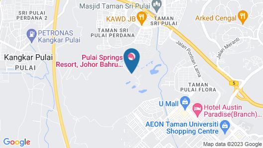 Pulai Springs Resort Map