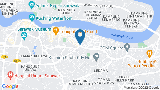 Amamas Boutique Hotel Kuching Map