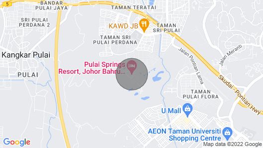 Holidaying IN Pulai Springs Resort A Joyous ONE Map