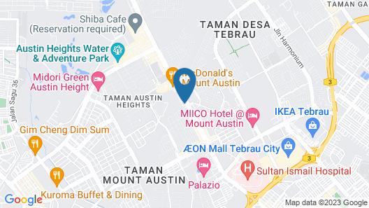 8 Days Boutique Hotel @ Mount Austin JB Map