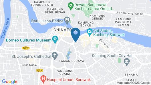 D'Green Hotel Kuching Map
