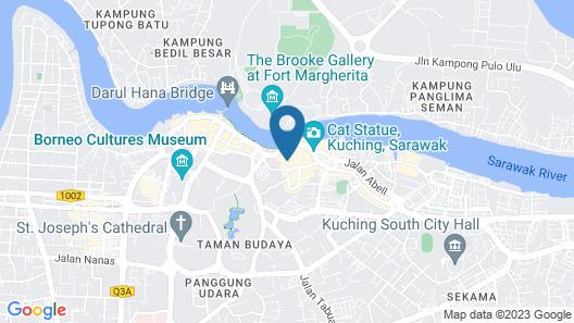 Hilton Kuching Map