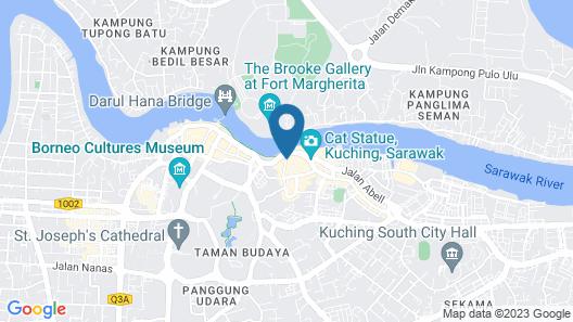Tune Hotel - Waterfront Kuching Map