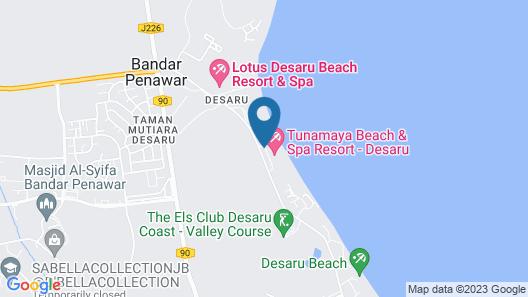Tunamaya Beach & Spa Resort – Desaru Coast Map