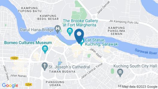 Imperial Riverbank Hotel Kuching Map