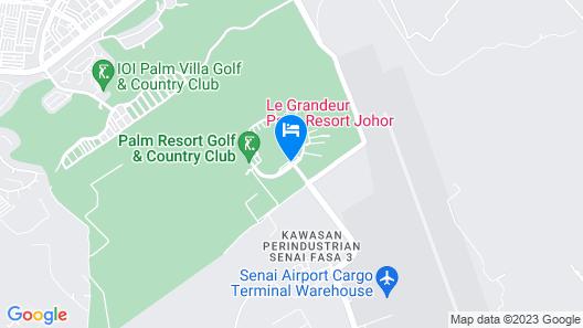Le Grandeur Palm Resort Johor Map