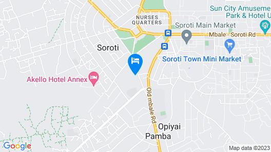 Soroti Hotel Map