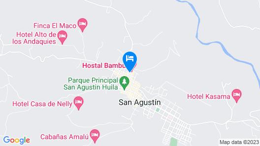 Hostal Bambu Map