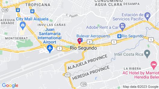 Holiday Inn Express San Jose Costa Rica Airport Map