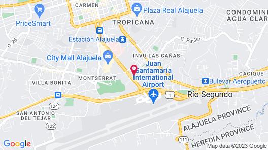 Courtyard by Marriott San Jose Airport Alajuela Map