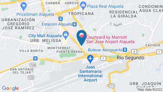 Courtyard by Marriott San Jose Airport Alajuela Map