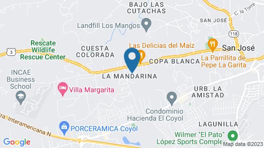Hotel La Rosa de America Map