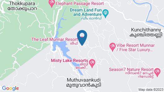 The Leaf Munnar Resort Map