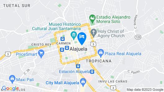 Hotel La Guaria Inn & Suites Map
