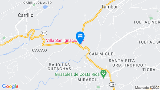Villa San Ignacio Map