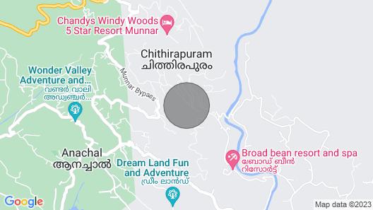 Starlit Holidays Homes Chithirapuram Near Munnar - Room #1 Map
