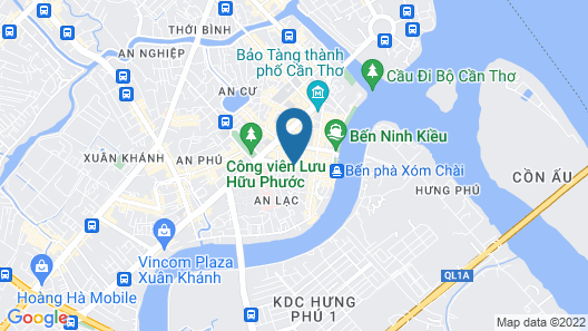 Anh Dao Mekong Hotel Map