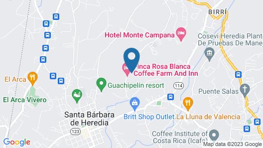 Finca Rosa Blanca Coffee Farm and Inn Map