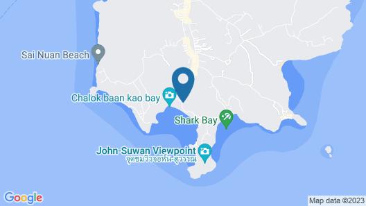 Koh Tao Tropicana Resort Map