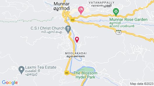 Green Spaces Munnar Map