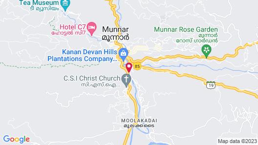 The Tall Trees Munnar Map