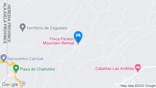 Finca Paraiso Mountain Retreat Map
