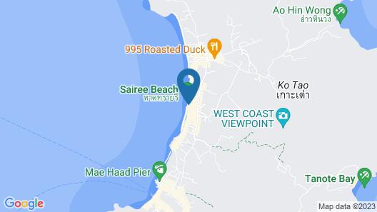 Blue Tao Beach Hotel Map