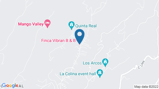 Finca Vibran Bed and Breakfast Map