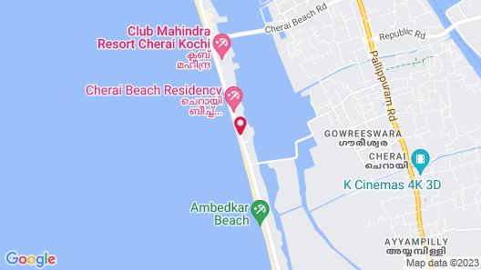 Cherai Beach Resort Map