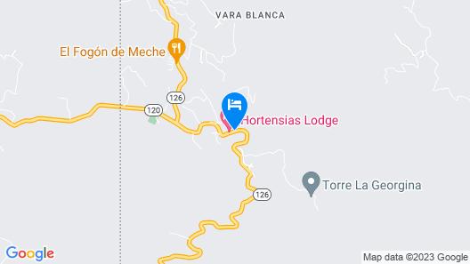 Hortensias Chalets Vara Blanca Map