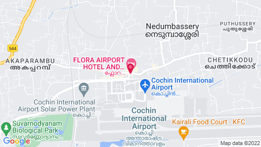 Flora Airport Hotel and Convention Centre Kochi Map