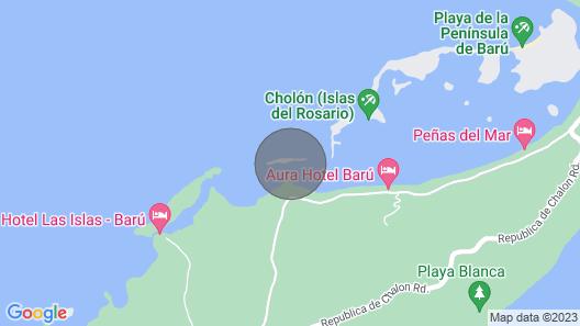 Isla Venado. Private Island in Cholon, Cartagena. Map