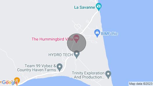 The Hummingbird Villa - Beach House Mayaro Guaya Vacation Rental Trinidad Tobago Map
