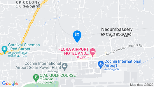 Blue Bell Airport Hotel Map