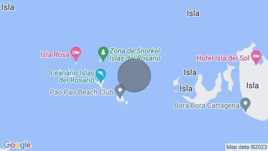 San Quintin Isla Privada Map
