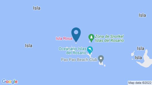 Stand-alone Isla Rosa Boutique - 40ft Speedboat Included Map