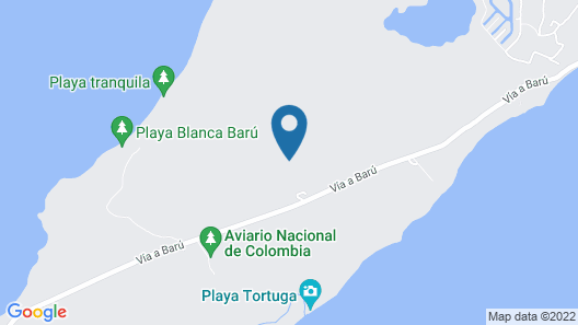 Hotel Playa Manglares Isla Barú Map
