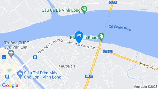 Mekong Pottery Homestay 2 - Free Breakfast Bikes 5 Mins to Center Island Map